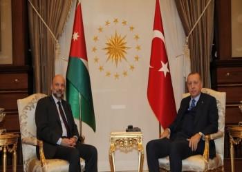 أردوغان يبحث مع رئيس الحكومة الأردنية تنسيق المواقف الإقليمية