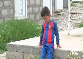 «ميسي الكردي».. معاناة طفل في معتقل «تنظيم الدولة» بسبب حب «برشلونة»