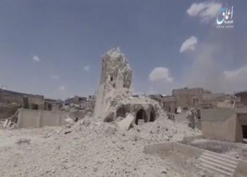 فيديو لـ«نيويورك تايمز» يثبت تدمير «تنظيم الدولة» لـ«مسجد الخلافة»