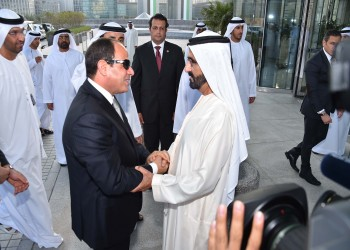 السيسي وبن راشد يؤكدان أهمية استمرار تكاتف رباعي حصار قطر