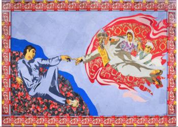 بالصور.. فنانة سعودية تعيد ابتكار اللوحات العالمية بـ«أغلفة السكاكر»