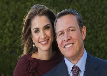 الملكة «رانيا» تهنيء زوجها العاهل الأردني بعيد ميلاده
