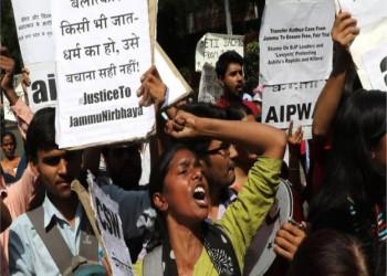 احتجاجات واسعة بالهند إثر مقتل طفلة مسلمة بعد اغتصابها