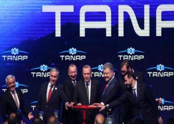 تركيا تدشن خط «تاناب» لنقل غاز أذربيجان إلى أوروبا