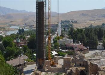 تركيا تواصل أعمال نقل مسجد من العهد الأيوبي