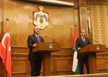 وزيرا خارجية تركيا والأردن يبحثان اتفاقية التجارة الحرة