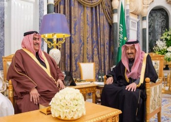 العاهل السعودي ووزير خارجية البحرين يبحثان الأوضاع في المنطقة