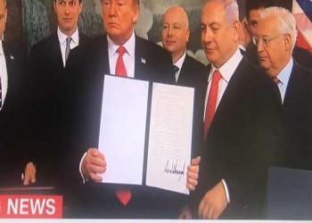 قرار ترامب بشأن الجولان دفعة لنتنياهو وخطر على إسرائيل