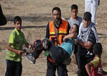 22 طفلا و3 سيدات ضمن 56 مصابا بقمع مسيرات العودة