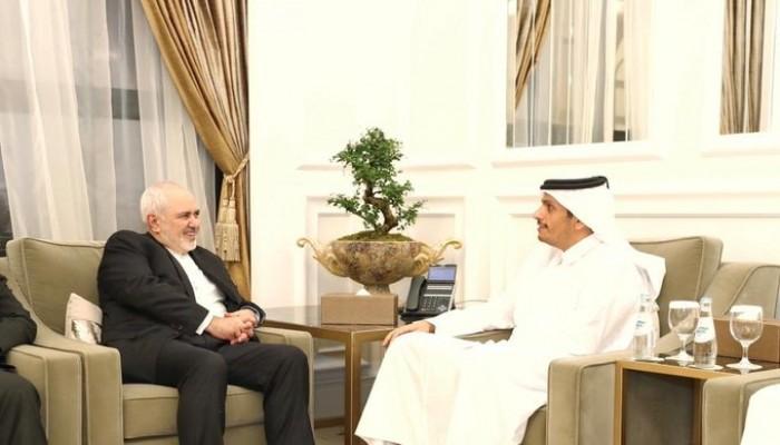 ظريف يبحث بالدوحة تعزيز العلاقات مع قطر