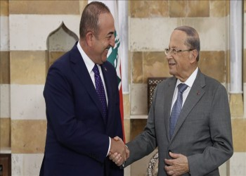 جاويش أوغلو يبحث مع الرئيس اللبناني قضايا إقليمية