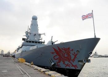 سفينة حربية بريطانية جديدة تبحر إلى مياه الخليج