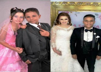 زواج أصغر عروسين في مصر بعد 6 سنوات من خطبتهما