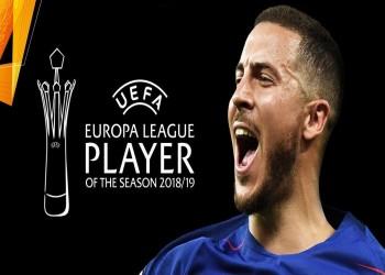 هازارد يتوج بجائزة أفضل لاعب في الدوري الأوروبي 2018-2019