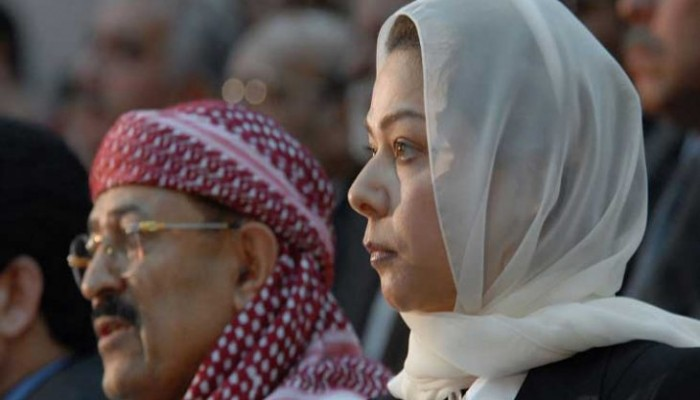 رغد صدام حسين تنشر فيديو نادرا لوالدتها مع سوزان مبارك