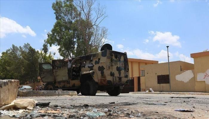 الوفاق تعلن تدمير دبابة وآلية عسكرية لحفتر جنوبي طرابلس