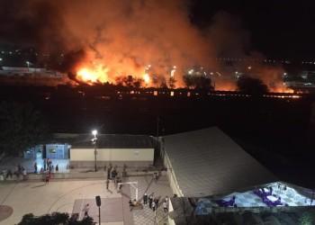مصر.. اندلاع حريق بقطار ركاب في محطة بمحافظة المنيا