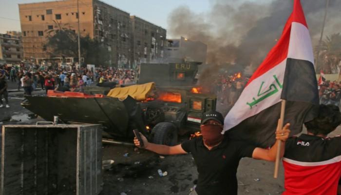 حصيلة احتجاجات العراق ترتفع إلى 65 قتيلا