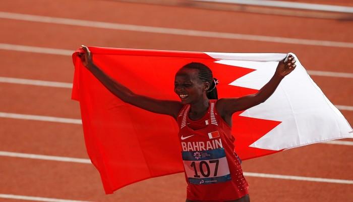 فضية للبحرينية تشيلمو بمارثون مونديال قطر