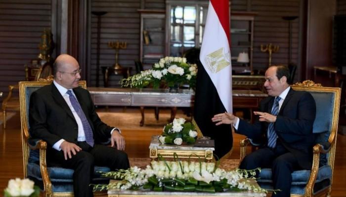 السيسي يبحث العملية العسكرية التركية مع نظيره العراقي