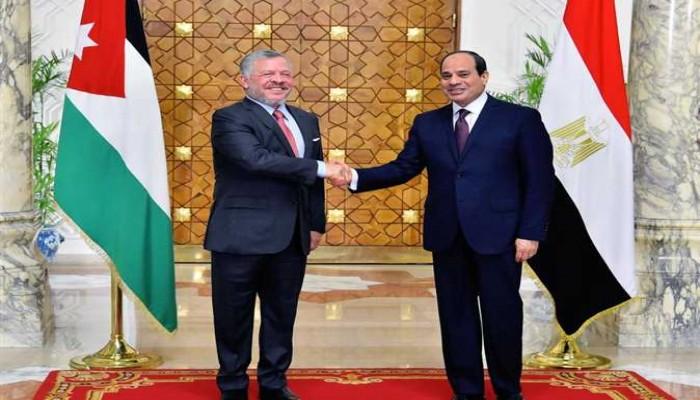 السيسي يبحث مع العاهل الأردني قضايا إقليمية بينها سوريا