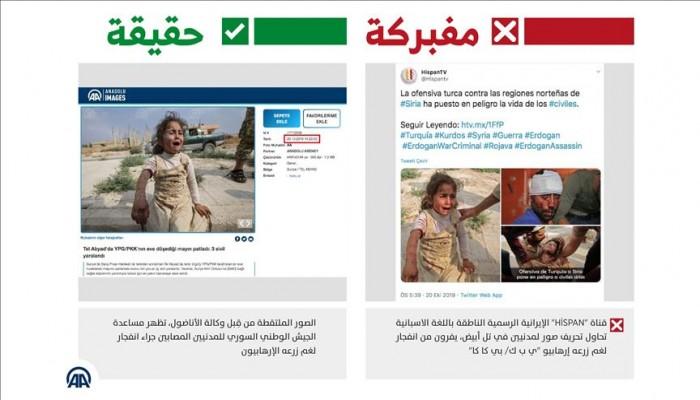 """قناة إيرانية رسمية تحاول تشويه """"نبع السلام"""""""