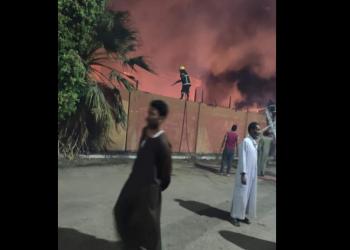 مصر.. اندلاع حريق ضخم بمحيط معبد الكرنك بالأقصر
