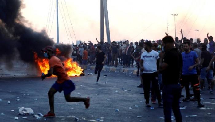 قتيلان بمظاهرات العراق وأكثر من 100 مصاب