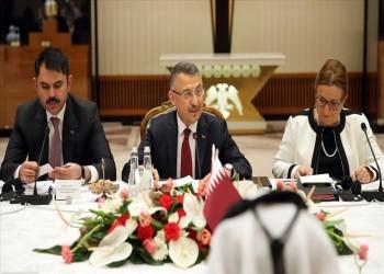 رئيس وزراء قطر يبحث مع نائب أردوغان تعزيز الاستثمار المشترك