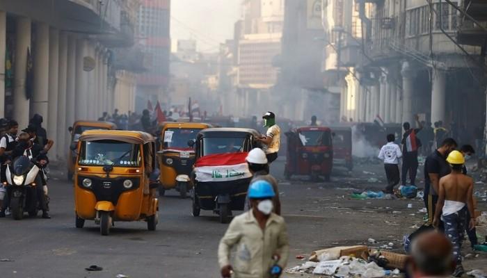 6 قتلى و38 جريحا في مواجهات المتظاهرين وقوات الأمن ببغداد