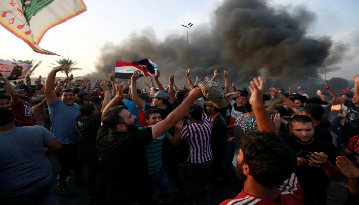 مقتل 4 متظاهرين في مواجهات مع الأمن وسط بغداد