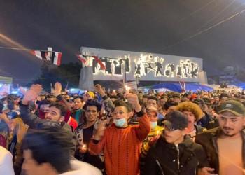 ساحات التظاهر العراقية تحتفل بقرب استقالة عبدالمهدي (صور)
