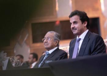 أمير قطر يستقبل مهاتير محمد في الدوحة الخميس