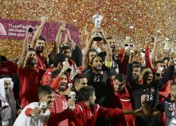 ملك البحرين يستقبل منتخب بلاده الفائز بخليجي 24