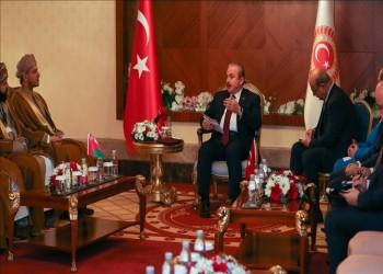 رئيس البرلمان التركي يلتقي نائب نظيره العماني بأنطاليا