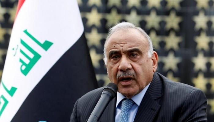 عبدالمهدي يستنكر فرض عقوبات أمريكية على قادة بالحشد الشعبي