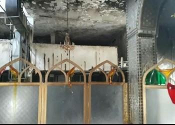 حرق ونهب مرقد بارز جنوبي إيران (صور)