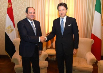 السيسي ورئيس وزراء إيطاليا يبحثان الأزمة الليبية
