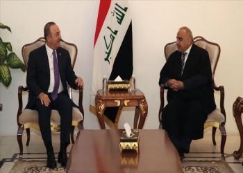 جاويش أوغلو يلتقي رئيس الوزراء العراقي في بغداد