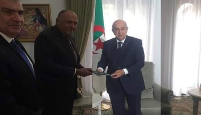 شكري يدعو من الجزائر لتسوية سياسية في ليبيا