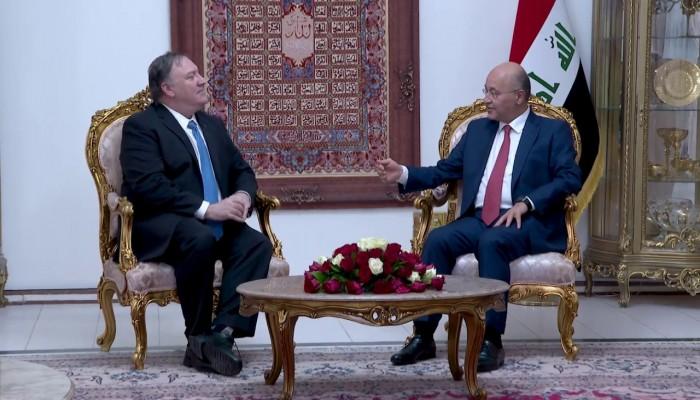بومبيو يجدد التزام بلاده وقف التصعيد في العراق