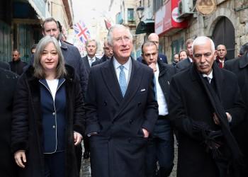 ولي عهد بريطانيا يوجه رسالة دعم قوية للفلسطينيين