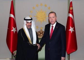 أردوغان يعقد مباحثات مع رئيس البرلمان الكويتي بإسطنبول