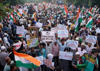 مئات الآلاف يشاركون في احتجاجات على قانون الجنسية بالهند