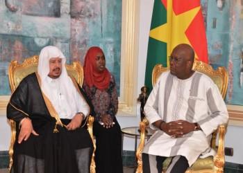 رئيس بوركينا فاسو يستقبل آل الشيخ في واجادوجو
