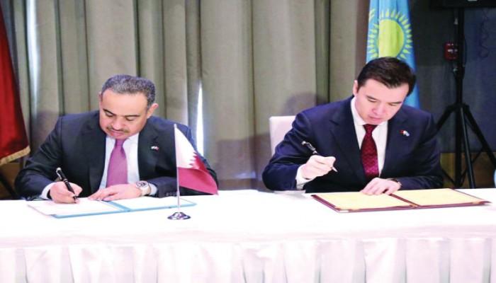 قطر: نتطلع إلى تأسيس شراكة استراتيجية مع كازاخستان