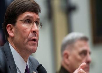 عزل وزير الدفاع الأمريكي عن نائبه بسبب فيروس كورونا