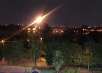 الأول بعهد الكاظمي..سقوط صاروخ بمحيط سفارة أمريكا