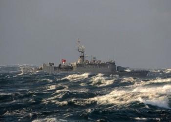 فرقاطة بحرية تركية تتحرك نحو المياه الإقليمية الليبية