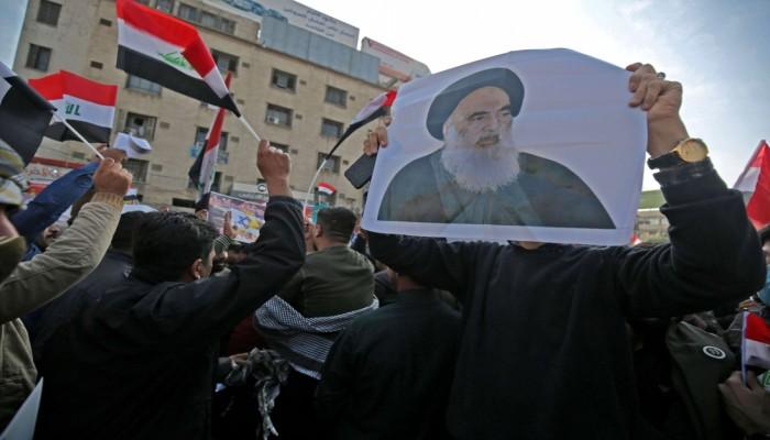 تظاهرات عراقية ضد إساءة الشرق الأوسط السعودية للسيستاني